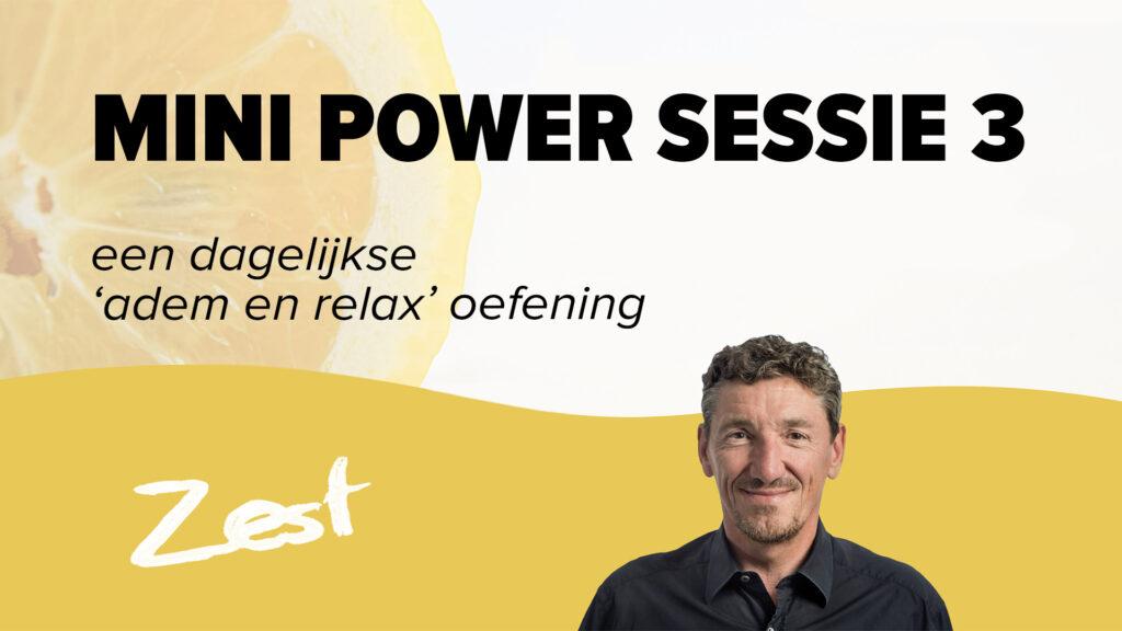 Mini Power Sessie - Les 3